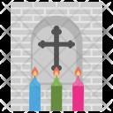 Saints Cross Christ Icon