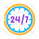 Twenty Four Seven Service Icon