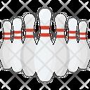 Alley Pins Hitting Pins Bowling Icon