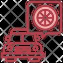 Alloy Wheel Vehicle Transportation Icon