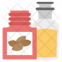 Almond Oil Spa Essential Beauty Product Icon