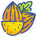 Almonds Nuts Food Icon