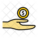 Alms Charity Coin Icon