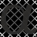 Alpha Math Geometry Icon