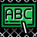 Alphabet School Board Blackboard Icon