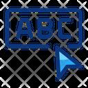 Alphabet Click Education Icon