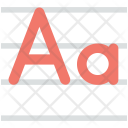 Alphabet Calligraphy English Icon