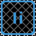 I Latin Letter Icon