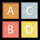 Alphabet blocks Icon