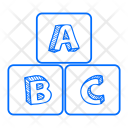 Alphabet Blocks Education Icon