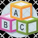 Alphabet Blocks Abc Icon