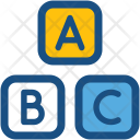 Alphabet Blocks Abc Icon