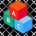 Blocks Toy Abc Development Icon