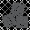 Alphabet Cubes Abc Icon