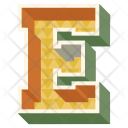 E Letter Capital Icon