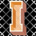I Letter Capital Icon