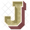 J Letter Capital Icon