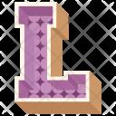 L Letter Capital Icon