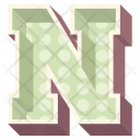 N Letter Capital Icon