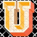 U Letter Capital Icon