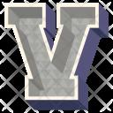 V Letter Capital Icon