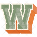 W Letter Capital Icon