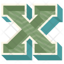 X Letter Capital Icon