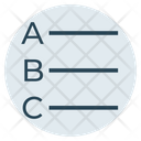 Alphabets Align Alignment Icon