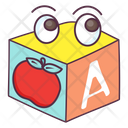 Alphabetic Block Kids Blocks Plastic Blocks Icon