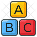 Alphabetics Blocks Abc Block Education Icon