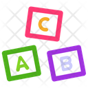 Alphabetic Blocks Kids Block Kids Plaything Icon