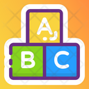 Alphabetics Blocks Abc Block Education Icon