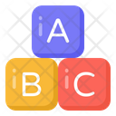 Alphabetic Blocks Abc Blocks Education Icon