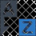 Alphabetical Sort Icon