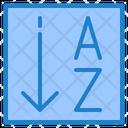 Alphabetical Sorting Icon