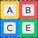 Alphabetics Blocks Abc Blocks Education Icon