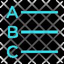 Alphabets Alignment Text Icon