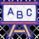 Alphabets Nursery School Whiteboard Icon