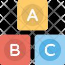 Alphabets Blocks Toys Icon