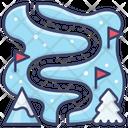 Skiing Track Ski Icon