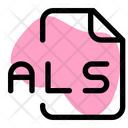 Als File Audio File Audio Format Icon