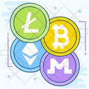Altcoin Digital Currencies Online Blockchain Icon