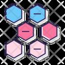 Alternating Hexagons Diagram Hexagons Icon