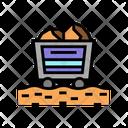 Aluminum Mining Cart Mining Trolley Mining Icon