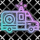 Ambulance Emergency Medical Vehicle Transportation Icon