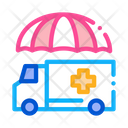 Emergency Ambulance Car Icon