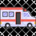 Emergency Van Ambulance Hospital Van Icon