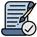 Amendment Writing Correction Icon