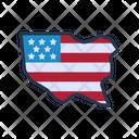 America Land Icon
