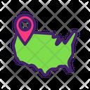 America Pin Icon